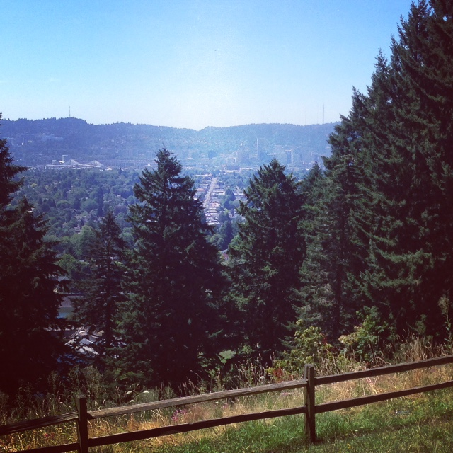 View of Portland, OR from the top of Mt. Tabor Park