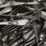 Kitchen utensils ready to pack for a move