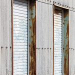 An exterior shot of a line of storage units