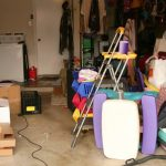 A very cluttered garage, a good place to start when moving